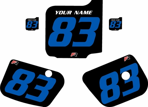 1983 Husqvarna CR500 Custom Pre-Printed Background Black - Blue Numbers by Factory Ride
