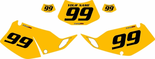 1994-1996 Kawasaki KLX250 Yellow Pre-Printed Backgrounds - Black Numbers by FactoryRide