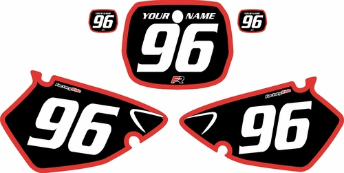 1996-1999 Yamaha YZ125 Custom Pre-Printed Background Black - Red Bold Pinstripe by Factory Ride