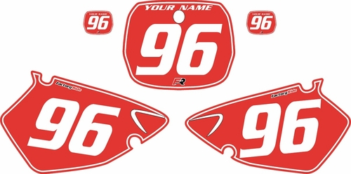 1996-1999 Yamaha YZ125 Custom Pre-Printed Background Red - White Pinstripe by Factory Ride