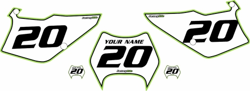 1995-2006 Kawasaki KDX 200 Custom Pre-Printed Background White - Green Pro Pinstripe by Factory Ride