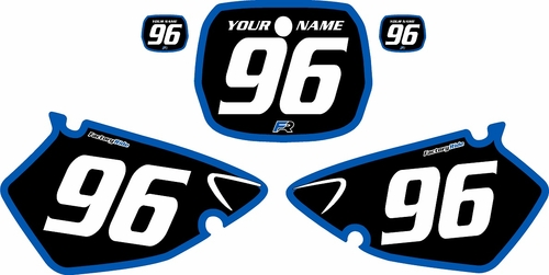 1996-1999 Yamaha YZ125 Custom Pre-Printed Background Black - Blue Bold Pinstripe by Factory Ride