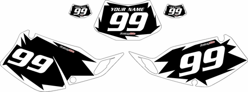 1994-1996 Kawasaki KLX250 Black Pre-Printed Backgrounds - White Shock by FactoryRide