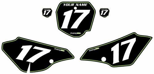2003-2006 Kawasaki KLX125 Pre-Printed Backgrounds Black - Green Pinstripe by FactoryRide
