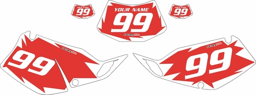 1994-1996 Kawasaki KLX250 Red Pre-Printed Backgrounds - White Shock by FactoryRide