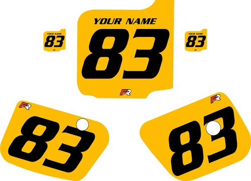 1983 Husqvarna CR500 Custom Pre-Printed Background Yellow - Black Numbers by Factory Ride