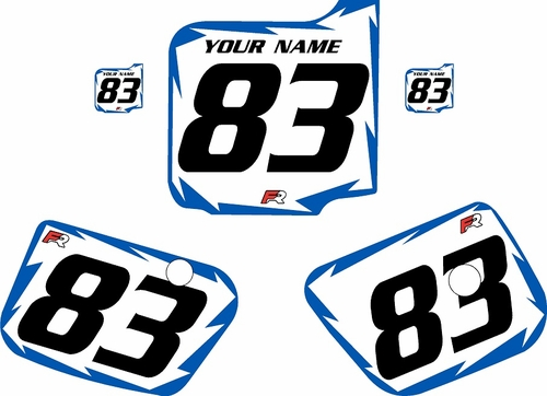 1983 Husqvarna CR500 Custom Pre-Printed Background White - Blue Shock Series by Factory Ride