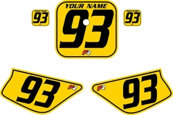 1988-1999 Honda Z50 Yellow Pre-Printed Backgrounds - Black Pinstripe by FactoryRide