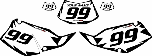 1994-1996 Kawasaki KLX250 White Pre-Printed Backgrounds - Black Shock by FactoryRide