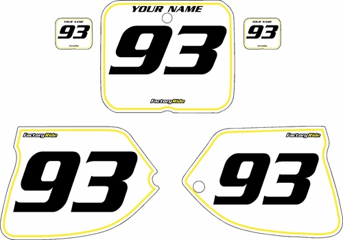 1993-1995 Suzuki RM250 Pre-Printed Backgrounds White - Yellow Pinstripe by FactoryRide