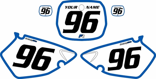 1996-1999 Yamaha YZ125 Custom Pre-Printed Background White - Blue Bold Pinstripe by Factory Ride