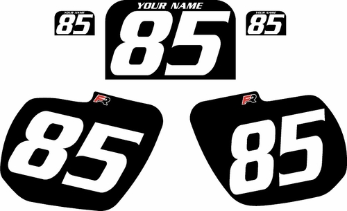 1984 Kawasaki KX125 Custom Pre-Printed Background Black - White Numbers by Factory Ride