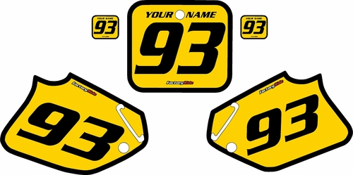 1993-1994 Honda CR125 Pre-Printed Backgrounds Yellow - Black Bold Pinstripe by FactoryRide