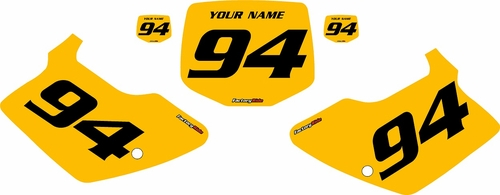 1994-1998 Kawasaki KX125 Custom Pre-Printed Yellow Background - Black Numbers by Factory Ride