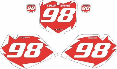 1998-1999 Honda CR125 Pre-Printed Backgrounds Red - White Shock Series by FactoryRide