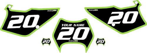 1997-2005 Kawasaki KDX220 Pre-Printed Backgrounds Black - Green Bold Pinstripe by FactoryRide