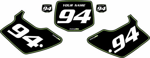 1994-1998 Kawasaki KX125 Pre-Printed Backgrounds Black - Green Pinstripe by FactoryRide