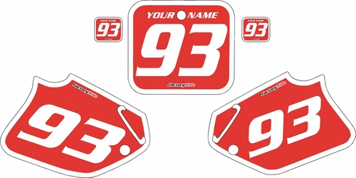 1993-1994 Honda CR125 Pre-Printed Backgrounds Red - White Bold Pinstripe by FactoryRide