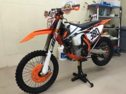 Customers 2017-2018 KTM White Background Decals with Black Shock Series