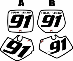 1991-1992 Yamaha YZ250 Custom Pre-Printed White Background - Black Bold Pinstripe by Factory Ride