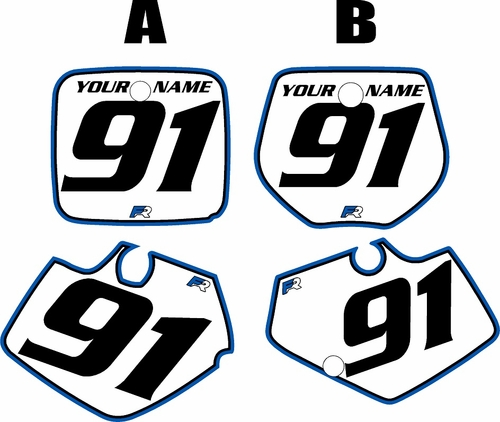 1991-1992 Yamaha YZ250 Custom Pre-Printed Background White - Blue Pro Pinstripe by Factory Ride