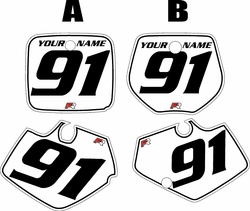 1991-1992 Yamaha YZ250 Custom Pre-Printed White Background - Black Pinstripe by Factory Ride
