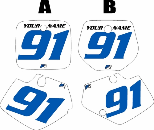 1991-1992 Yamaha YZ250 Custom Pre-Printed White Background - Blue Numbers by Factory Ride