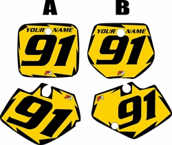 1991-1992 Yamaha YZ125 Custom Pre-Printed Yellow Background - Black Shock Series by Factory Ride