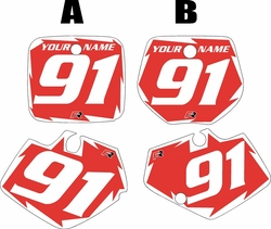 1991-1992 Yamaha YZ125 Custom Pre-Printed Red Background - White Shock Series by Factory Ride