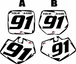 1991-1992 Yamaha YZ125 Custom Pre-Printed White Background - Black Shock Series by Factory Ride