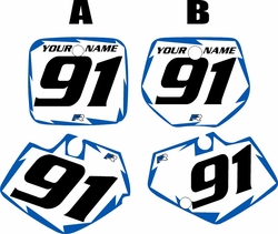 1991-1992 Yamaha YZ125 Custom Pre-Printed White Background - Blue Shock Series by Factory Ride