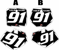 1991-1992 Yamaha YZ125 Custom Pre-Printed Black Background - White Shock Series by Factory Ride