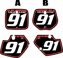 1991-1992 Yamaha YZ125 Custom Pre-Printed Background Black - Red Retro by Factory Ride