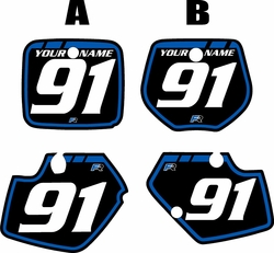 1991-1992 Yamaha YZ125 Custom Pre-Printed Background Black - Blue Retro by Factory Ride