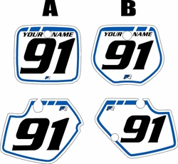 1991-1992 Yamaha YZ125 Custom Pre-Printed Background White - Blue Retro by Factory Ride