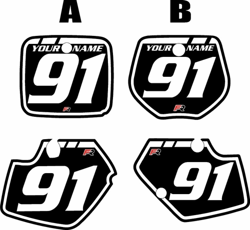1991-1992 Yamaha YZ125 Custom Pre-Printed Background Black - White Retro by Factory Ride