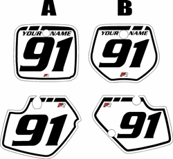 1991-1992 Yamaha YZ125 Custom Pre-Printed Background White - Black Retro by Factory Ride