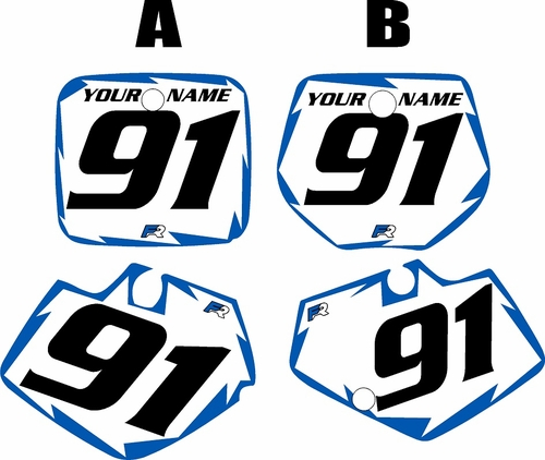 1991-1992 Yamaha YZ250 Custom Pre-Printed White Background - Blue Shock Series by Factory Ride
