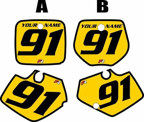 1991-1992 Yamaha YZ125 Custom Pre-Printed Yellow Background - Black Bold Pinstripe by Factory Ride