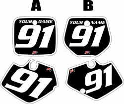 1991-1992 Yamaha YZ125 Custom Pre-Printed Black Background - White Bold Pinstripe by Factory Ride
