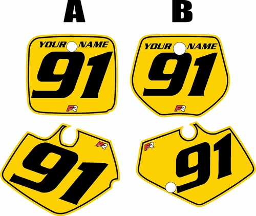 1991-1992 Yamaha YZ125 Custom Pre-Printed Yellow Background - Black Pinstripe by Factory Ride