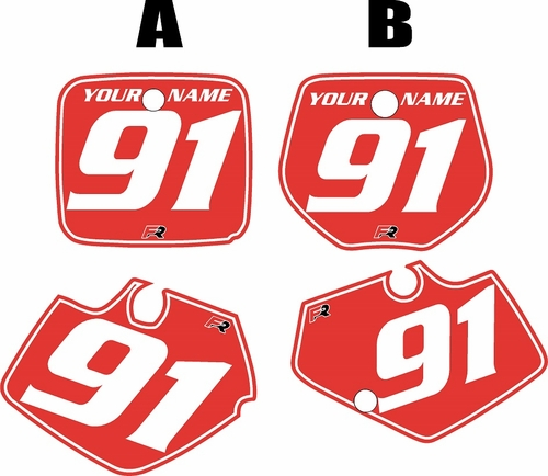 1991-1992 Yamaha YZ125 Custom Pre-Printed Red Background - White Pinstripe by Factory Ride