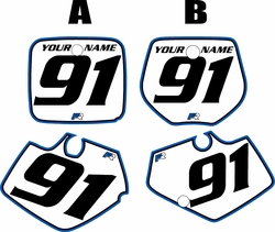 1991-1992 Yamaha YZ125 Custom Pre-Printed Background White - Blue Pro Pinstripe by Factory Ride