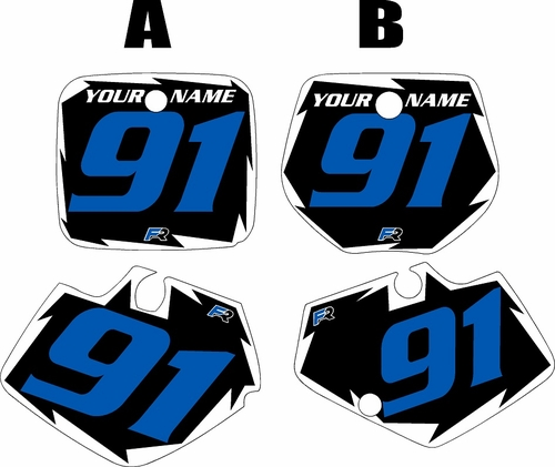 1991-1992 Yamaha YZ250 Pre-Printed Black Background - White Shock Series - Blue Number by Factory Ride
