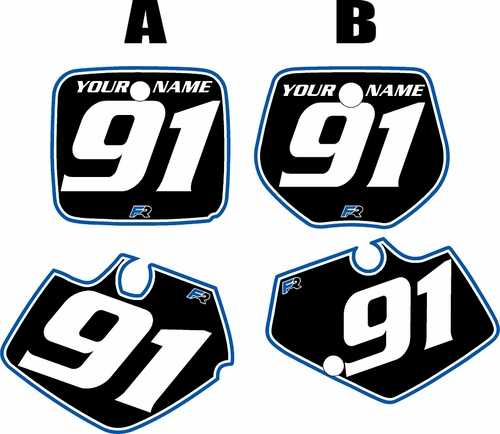 1991-1992 Yamaha YZ125 Custom Pre-Printed Background Black - Blue Pro Pinstripe by Factory Ride