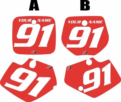 1991-1992 Yamaha YZ125 Custom Pre-Printed Red Background - White Numbers by Factory Ride