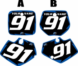 1991-1992 Yamaha YZ250 Custom Pre-Printed Black Background - Blue Shock Series by Factory Ride