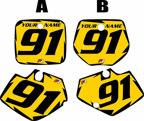 1991-1992 Yamaha YZ250 Custom Pre-Printed Yellow Background - Black Shock Series by Factory Ride