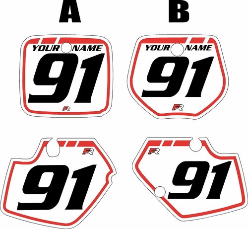 1991-1992 Yamaha YZ250 Custom Pre-Printed Background White - Red Retro by Factory Ride