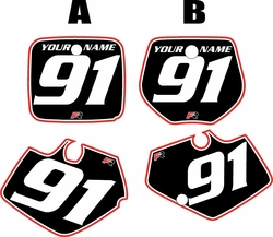 Yamaha YZ125 1991-1992 Black Pre-Printed Backgrounds - Red Pro Pinstripe by FactoryRide